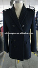 2012 new Men's wool black coat