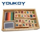 wooden ABC educational blocks
