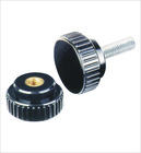 Zinc Alloy Straight Grain Handle Knobs with Brass inner thread/leadscrew