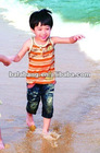 Branded boys summer vest 100%cotton made in china