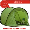 Pop up camping tent, seam taped, for 2 persons