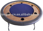Round Poker Table with folding steel legs
