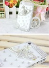 Hot sale luxury crystal rhinestone bling hard real factory made case for HTC