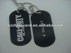 High quality black anodized metal dog tag