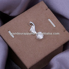 (Mix order)Wholesale fashion white stone feather pendants jewelry