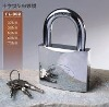 Chrome plated padlock