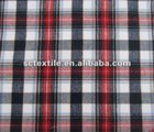 100% cotton yarn dyed flannel fabric