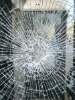 Crushed glass for safe construction buildings