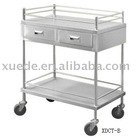 stainless steel medical mobile hand cart with drawers