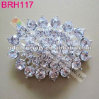 Oval wedding crystal rhinestone brooch