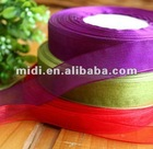 "Promotion nylon 5/8"" gift wrapping organza pull ribbon/sheer ribbon"