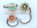 Metal enamel flower shaped wholesale bag hanger,cheap purse hook