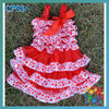 2012 Newest red zebra and red lace princess dresses for baby
