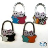 Foldable Bag Purse Handbag Hook Hanger Holder Cute Lovely Crystal Boy and Girl Shape
