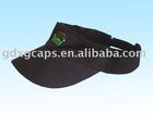 plain black sun cap