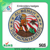 Promotion Embroidered patch fabric can customized design