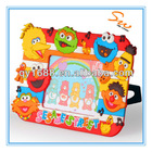 Letters of adornment plastic picture frames,kids photo frames with cute animal decoration
