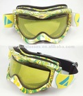 Hot sell water transfer printed snow goggles (CE EN 174 ANSI FDA certification )