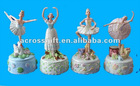 Decorative resin music box with ballerina figurine