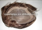 100% human hair toupee for men