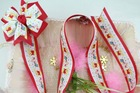 36 '' Customizable print ribbon hair bows