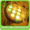 12W RGB PAR38 LED Spotlight with remote controller