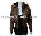 Ladies Custom Fur Leather Jackets