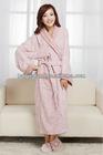 ladies terry towelling fancy bathrobe