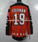 Wholesale retail throwback hocky jerseys Detriot Red Wings Steve Yzerman Authentic orange jersey