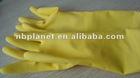 latex flock sprayed household gloves