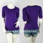 Ladies T-shirt, round neck T-shirt