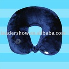 More comfortable U shape plush travel pillow with LED light