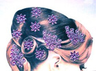 Hair stickers