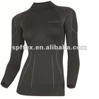 Seamless Women Long Sleeve Shirt with antibacterial,antistatic,moisture wicking functions