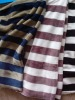 stripe printed flannel fabric