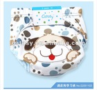 Pure cotton 3 layers waterproof TPU reusable cloth diapers embroideried dog design