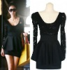 Free Shipping High Quality Wholesale Elegant Fashion Hot Sell Women's Ladies Lace Large Size Dress (1210809)