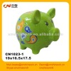 Green ceramic money bank