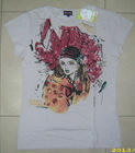 166. Men's Printed T-shirt stock
