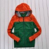 European style mens sweatshirt with hood doule color jacket