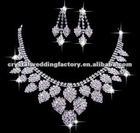 Free Shipping hot sale Shining Wedding Bridal Jewelry Sets Gift Set Tear Drop Necklace earrings Jewelery Sets CWFan4891