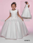 full A line of Imperial Satin & Organza Flowergirl Dress