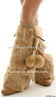 YR-129 Hot sale rabbit fur leg warmers