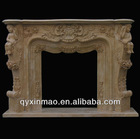 180cm*135cm*35cm yellow marble fireplace