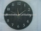 """18"""" Round slate house wall clocks as gifts/crafts"""
