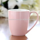 Round Ceramic Coffee Mug in pink
