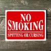 No Smoking Aluminum Sign