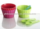 plastic ice cream bowl with spoon