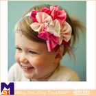 cute bowtie girls hairband beautiful flower elastic baby hairbands
