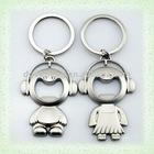Fashion promotional metal couple keychain